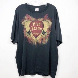 Pick Jesus Christian Rock Tee T-shirt Top